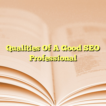Qualities Of A Good SEO Professional