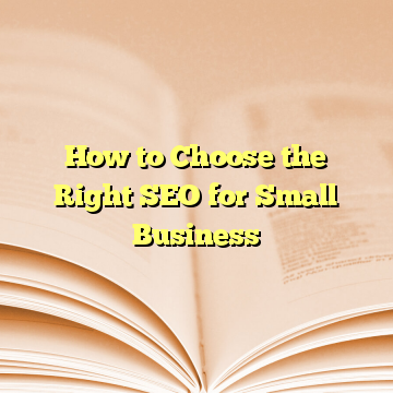 How to Choose the Right SEO for Small Business